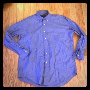 Ralph Lauren Yarmouth blue button front sz 16-33
